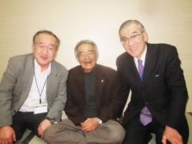 左;私 中央:木村秋則さん 右:清水精二会長